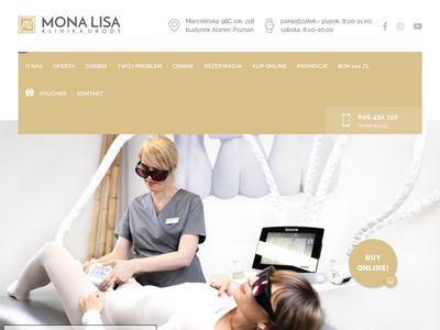 Monalisa-poznan.pl gabinet kosmetyczny Poznań
