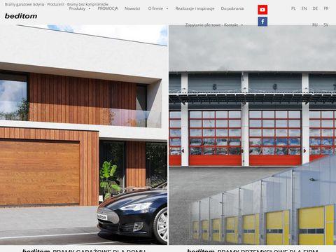 Beditom.pl bramy garażowe i przemysłowe
