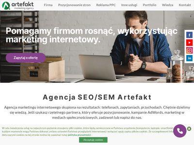 Artefakt.pl - pozycjonowanie stron