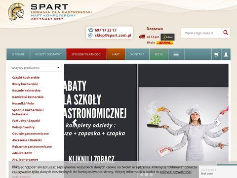 Spart - sklep z odzieżą gastronomiczną