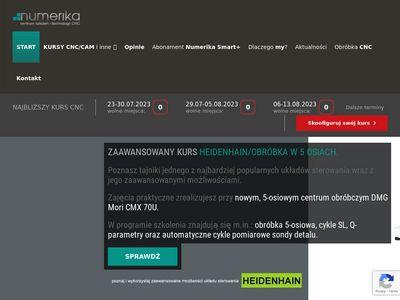 Numerika.pl kurs CNC - zdobądź certyfikat Tuv Sud
