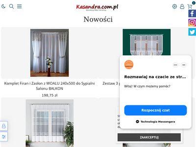 Kasandra.com.pl - firanki do salonu