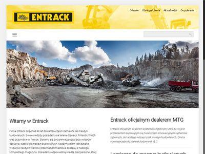 Entrack.pl części zamienne do koparek i minikoparek