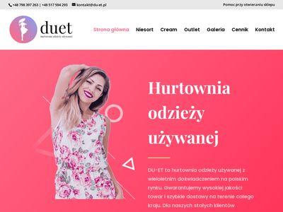 Du-et.pl - odzież używana Olsztyn