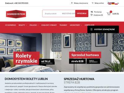 Domosystem.pl firany Lublin - tanie zasłony