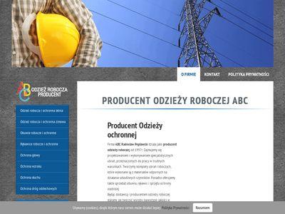 Abcrobocze.pl - producent odzieży roboczej