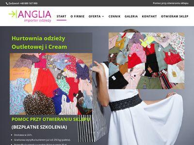 Anglia-importer.pl hurtownia odzieży używanej