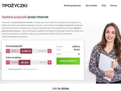7pozyczki.pl darmowe rankingi