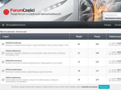 Forum o częściach samochodowych