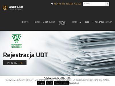 Dzwignice.pl firma Urbanek