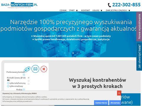 Baza-nowych-firm.pl - uzupełnianie baz danych