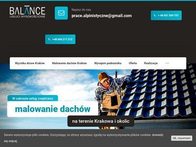 Balance.net.pl - montaż banerów Kraków