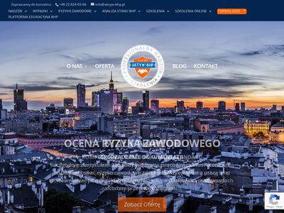 Aktyw-bhp.pl szkolenia BHP w Warszawie