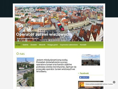Operator żurawia wieżowego we Wrocławiu