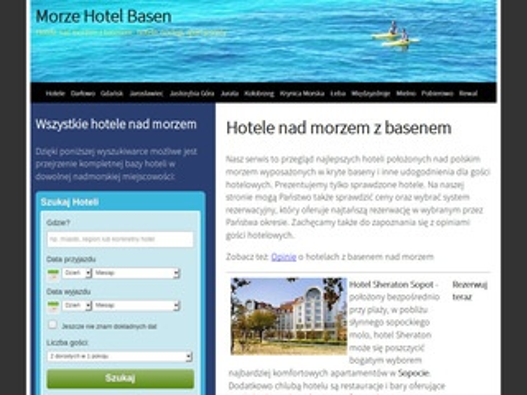 Hotele z basenem nad morzem