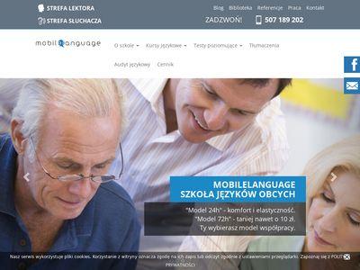 Szkoła językowa - mobilelanguage.pl