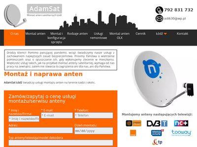 Montaż anten tv sat w Łodzi