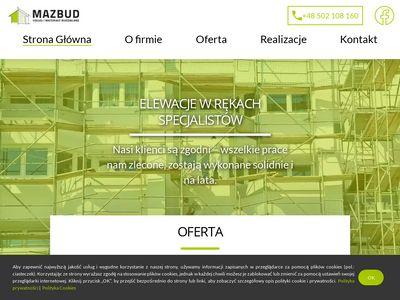 Ocieplenia - usługi budowlane Mazbud
