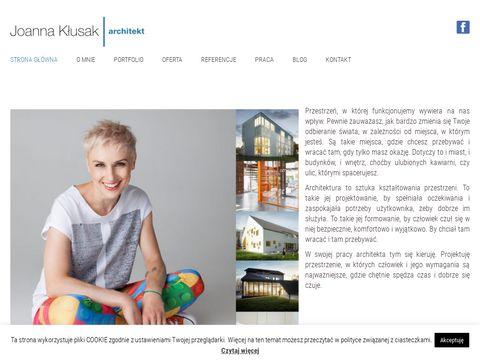 Joannaklusak.com projektant wnętrz