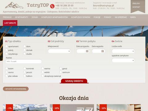 Tatrytop.pl wynajem apartamentów Zakopane