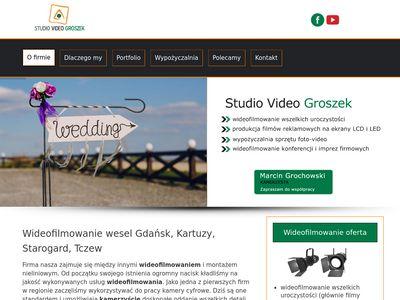 Videogroszek wideofilmowanie Gdańsk