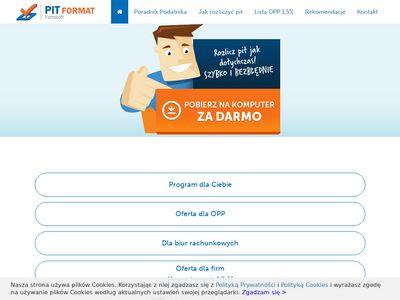PIT program - łatwe i szybkie PIT 2012/2013