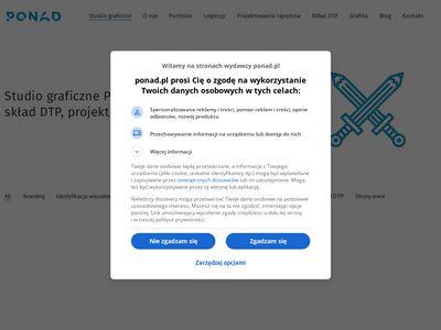 Ponad Design - logotyp, logo, grafika, skład DTP