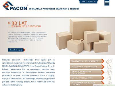 Pacon.com.pl opakowania kartonowe producent
