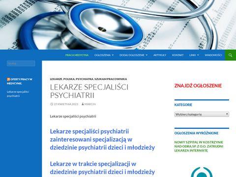Oferty pracy w służbie zdrowia i branży medycznej