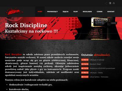 Rockdiscipline.com - nauka gry na gitarze Warszawa