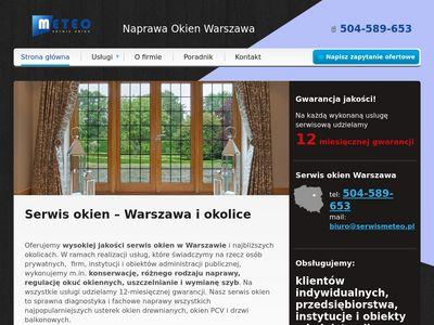 Serwismeteo.pl naprawa okien, serwis Warszawa