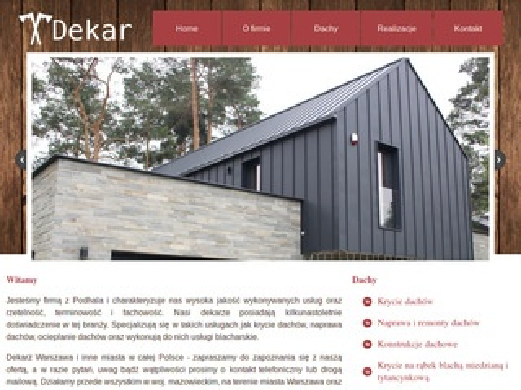 Dachydekar.com.pl naprawa, ocieplanie, krycie dachów Warszawa