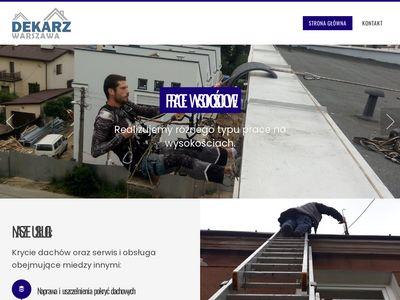 Dekarz Warszawa - serwis dachowy 24