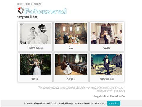 Fotoreportaż ślubny zdjęcia retro