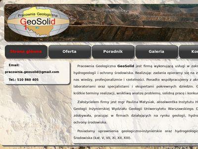 Geolog, badania gruntu, opinie geotechniczne