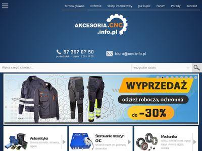 Akcesoria.cnc.info.pl części do maszyn