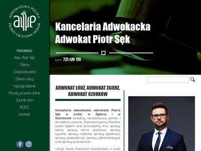 Adwokat Łódź, Zgierz Piotr Sęk