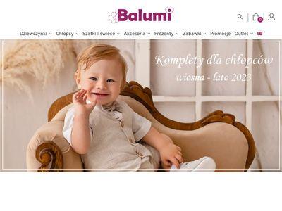 Balumi - ubranka na chrzest