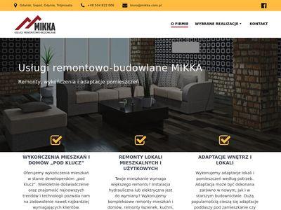 Usługi remontowe Gdańsk - firma Mikka