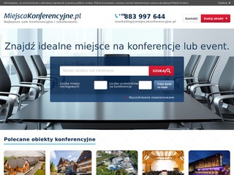 Obiekty - miejscakonferencyjne.pl