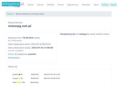 Strona z opisami gier mmo