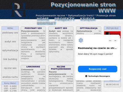 Pozycjonowanie stron WWW - podstawy