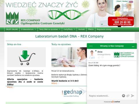 Rex.pl - badanie DNA w celu ustalenia ojcostwa