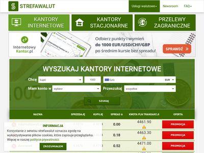 Znajdź kantor internetowy StrefaWalut.pl