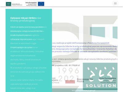 Solution.pl - szkolenia menadżerskie
