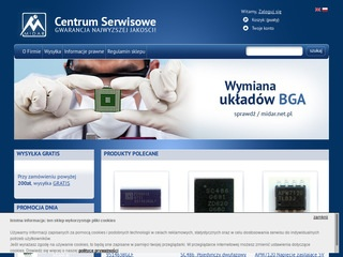 Sklep.midar.net.pl - wymiana układów BGA
