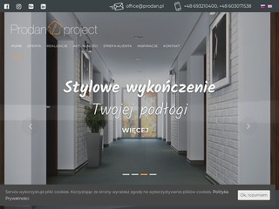 Prodanproject.com - wewnętrzne drzwi przesuwne